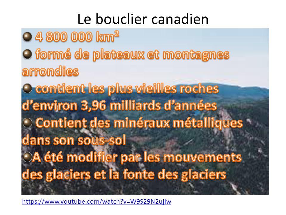 Le bouclier canadien 4 800 000 km²