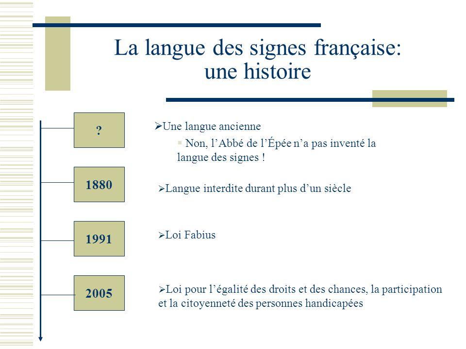 La langue des signes française: une histoire