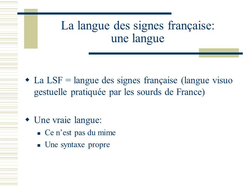 La langue des signes française: une langue