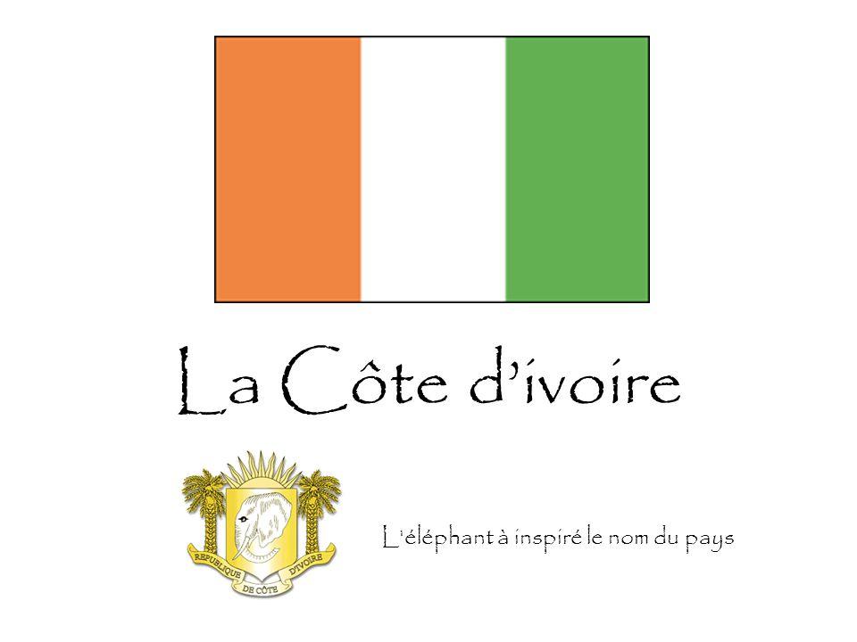 La Côte d'ivoire L éléphant à inspiré le nom du pays