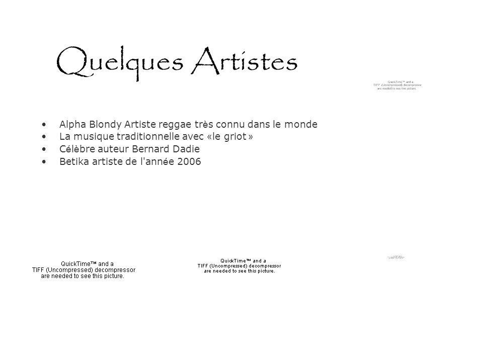 Quelques Artistes Alpha Blondy Artiste reggae très connu dans le monde