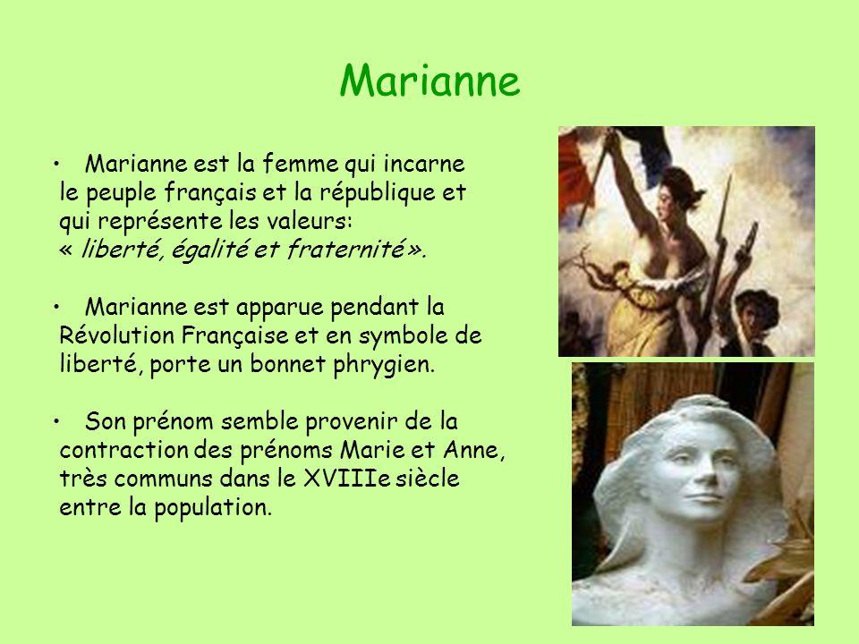 Marianne Marianne est la femme qui incarne