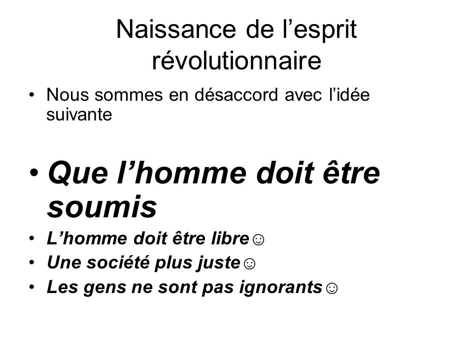 Naissance de l'esprit révolutionnaire