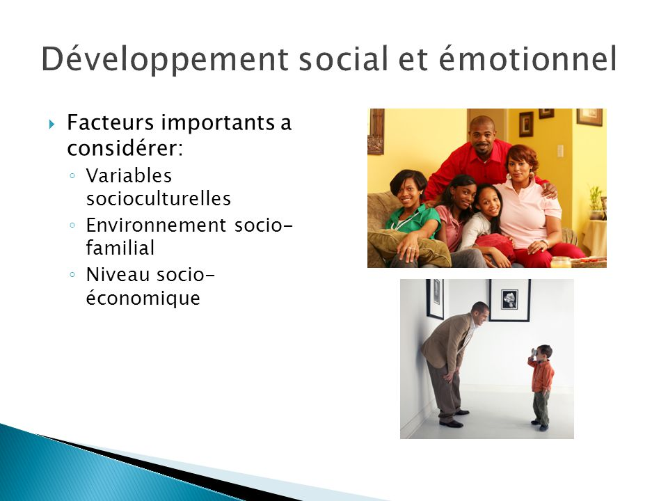 Développement social et émotionnel
