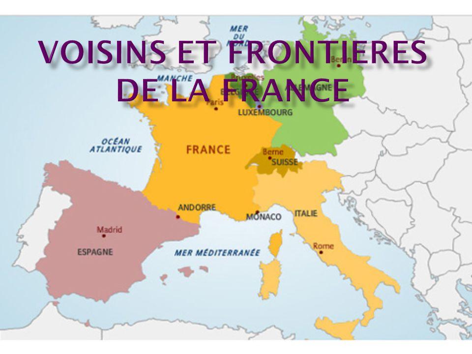 Voisins et frontieres de la France
