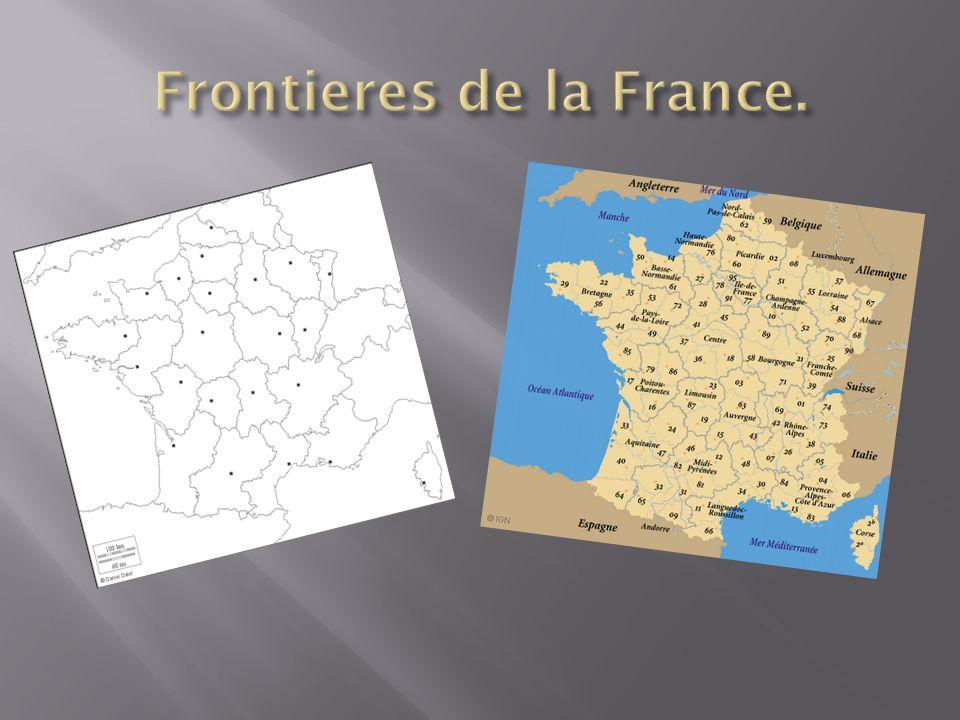 Frontieres de la France.