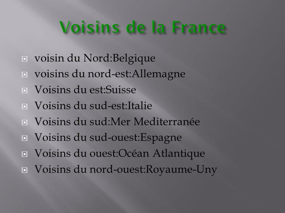 Voisins de la France voisin du Nord:Belgique