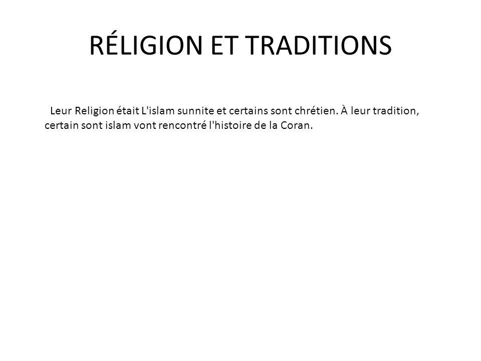 RÉLIGION ET TRADITIONS