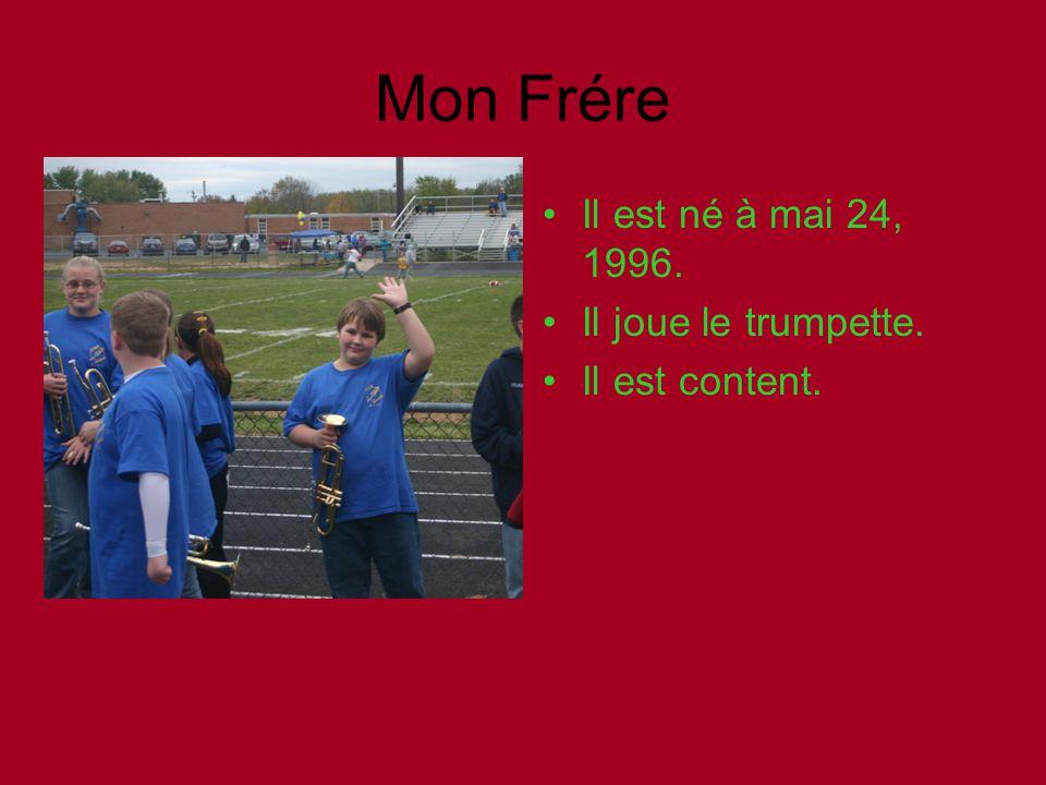 Mon Frére Il est né à mai 24, 1996. Il joue le trumpette.