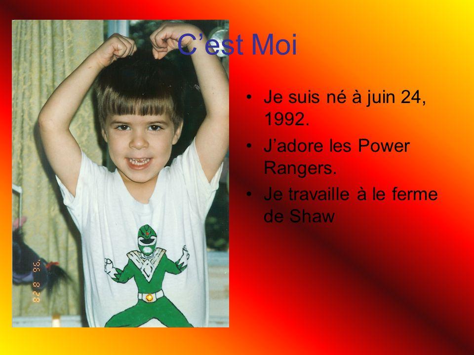 C'est Moi Je suis né à juin 24, 1992. J'adore les Power Rangers.