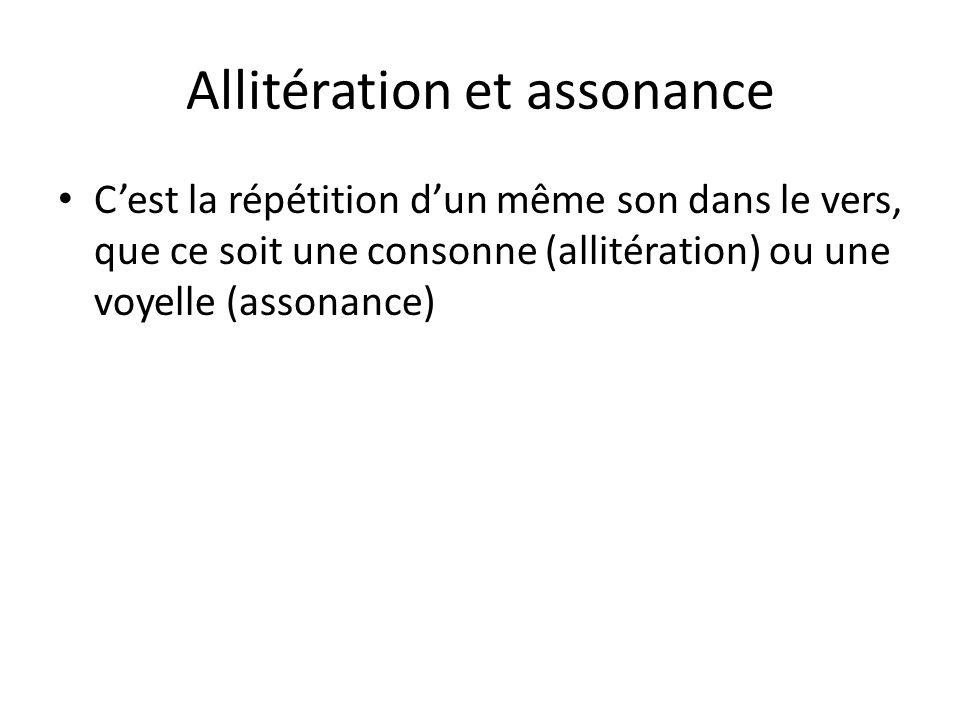 Allitération et assonance
