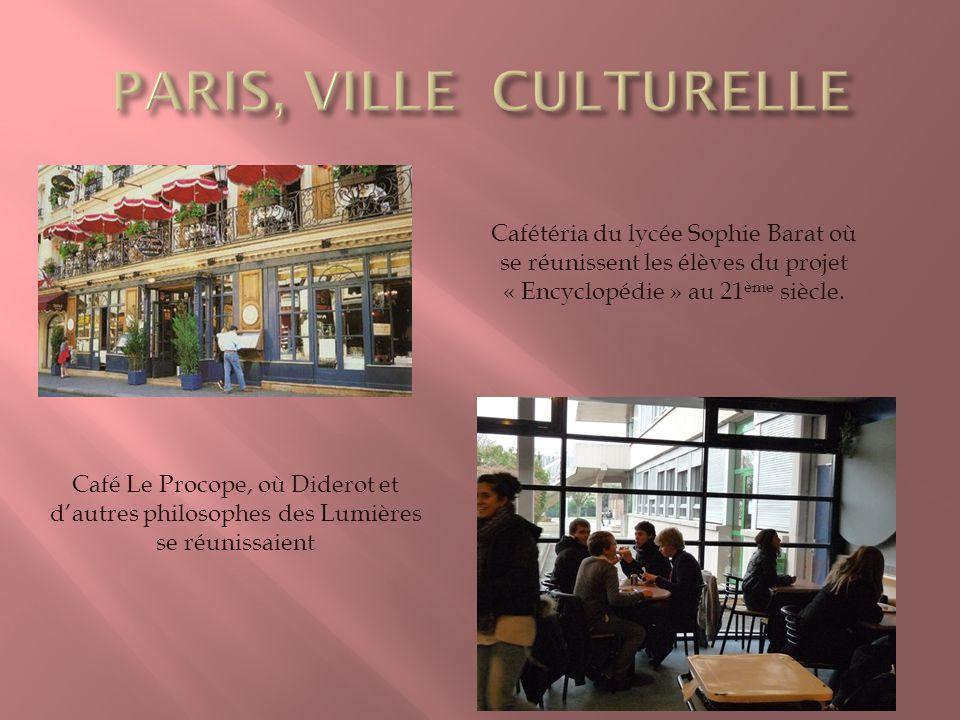 PARIS, VILLE CULTURELLE