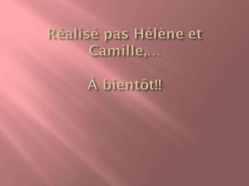 Réalisé pas Hélène et Camille,… À bientôt!!