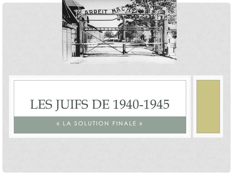 Les Juifs de 1940-1945 « La solution finale »