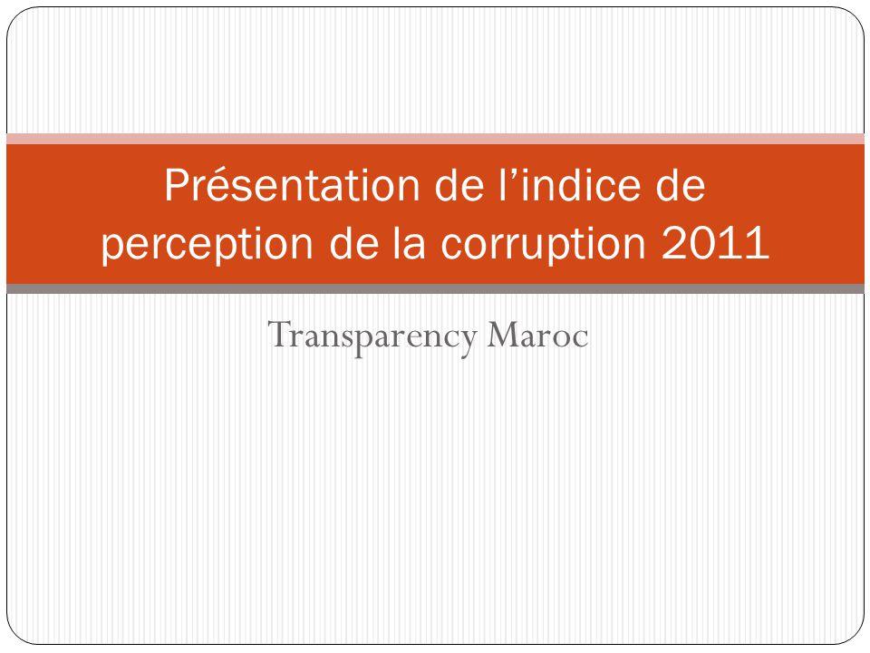 Présentation de l'indice de perception de la corruption 2011