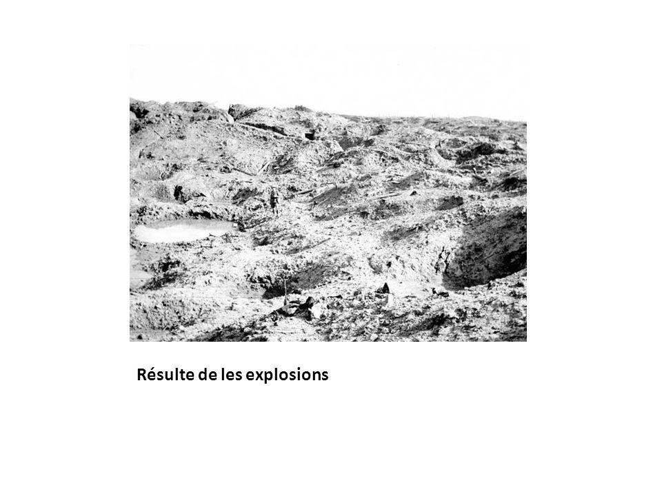 Résulte de les explosions