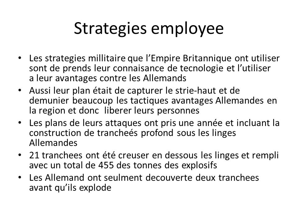 Strategies employee