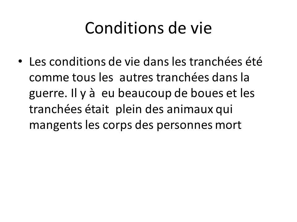 Conditions de vie