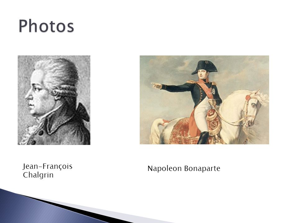 Photos Jean-François Chalgrin Napoleon Bonaparte