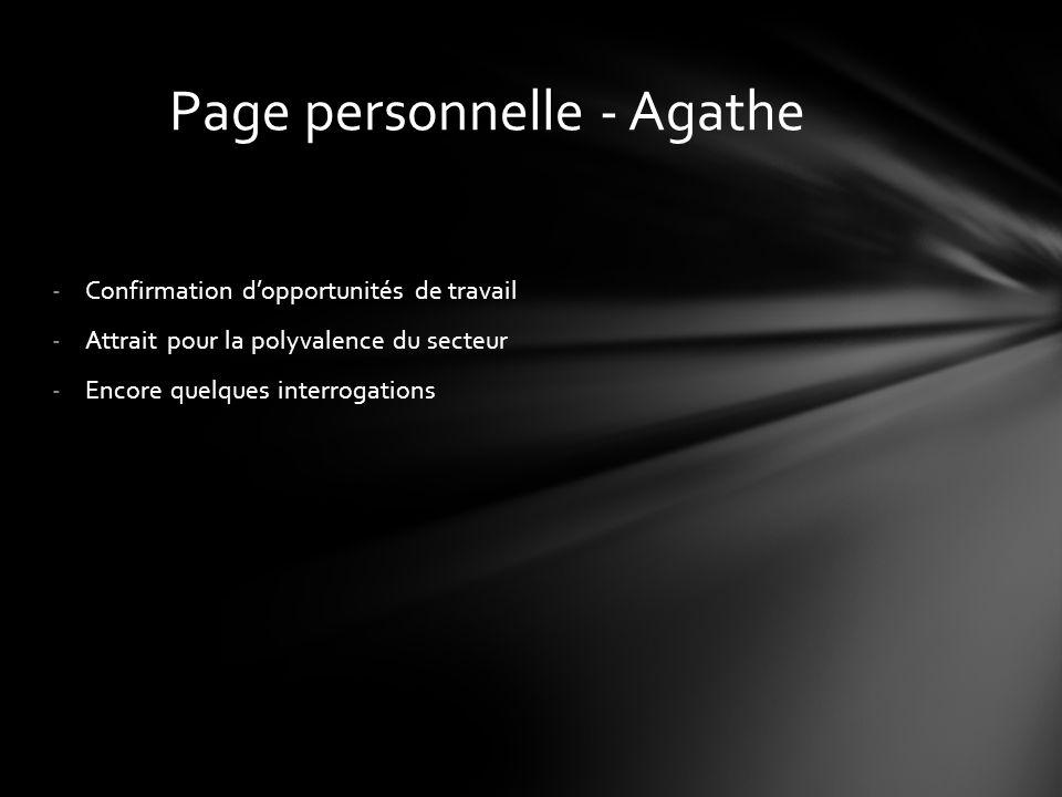 Page personnelle - Agathe