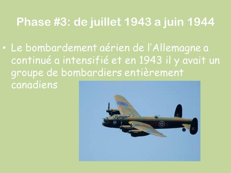 Phase #3: de juillet 1943 a juin 1944