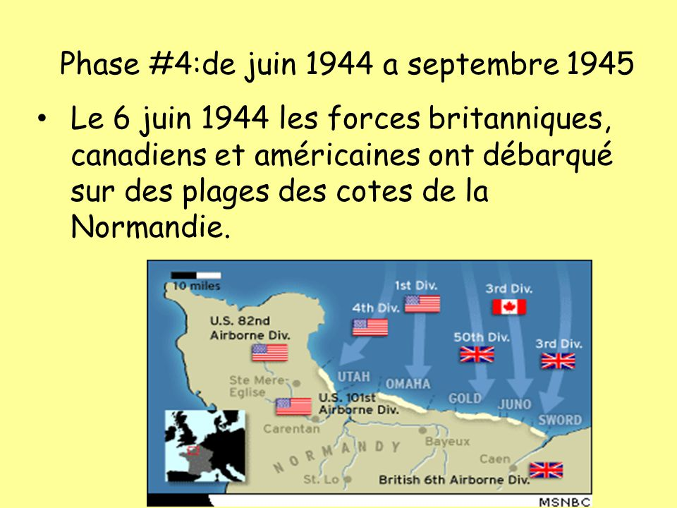Phase #4:de juin 1944 a septembre 1945