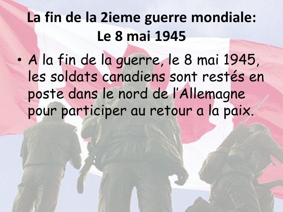 La fin de la 2ieme guerre mondiale: Le 8 mai 1945