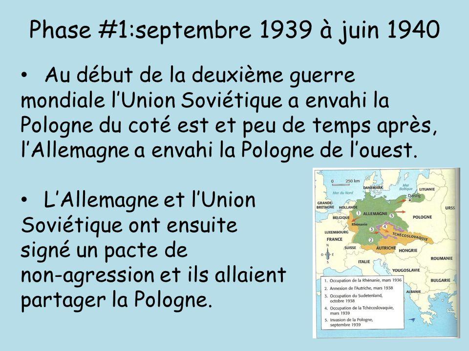 Phase #1:septembre 1939 à juin 1940