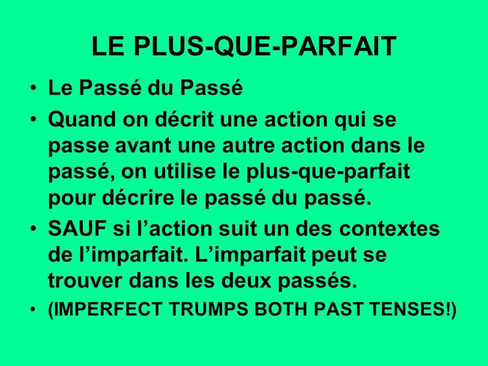 LE PLUS-QUE-PARFAIT Le Passé du Passé