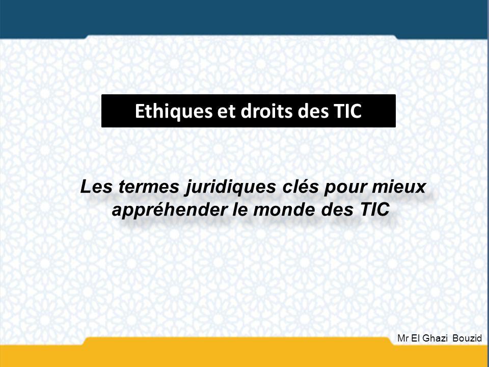 Ethiques et droits des TIC