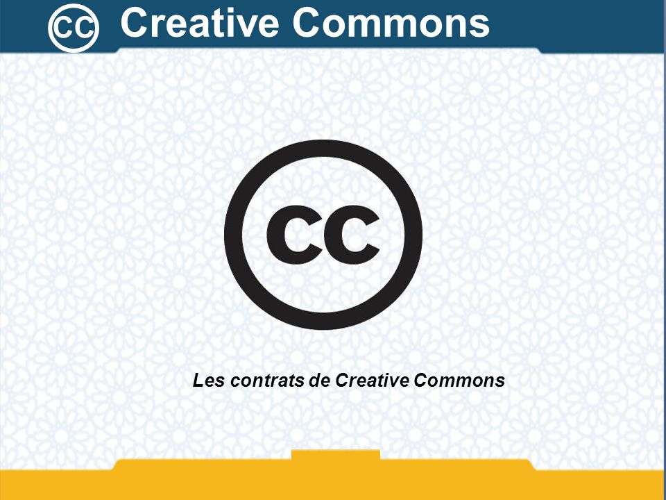 Les contrats de Creative Commons
