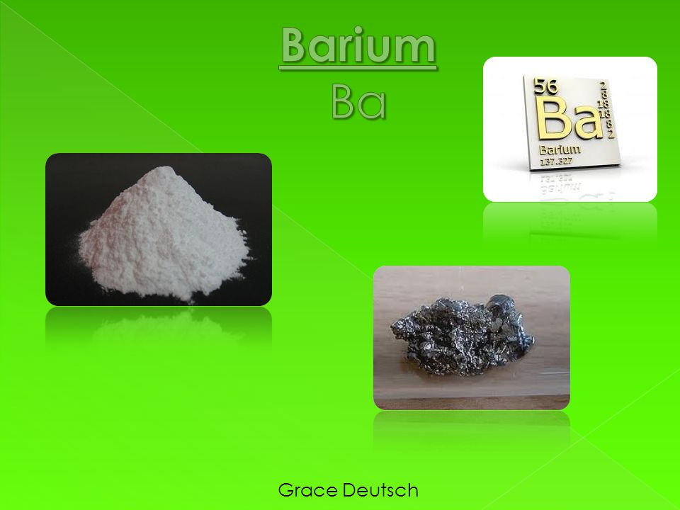 Barium Ba Grace Deutsch