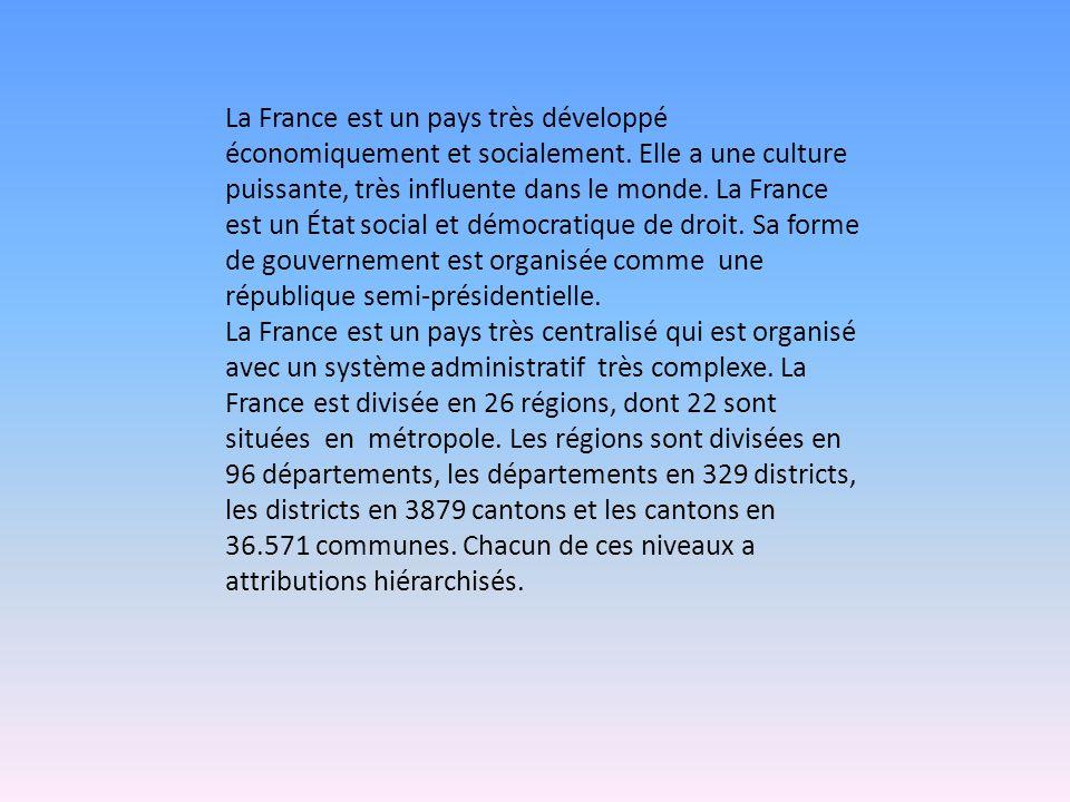 La France est un pays très développé économiquement et socialement