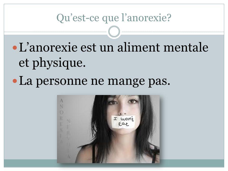 Qu'est-ce que l'anorexie