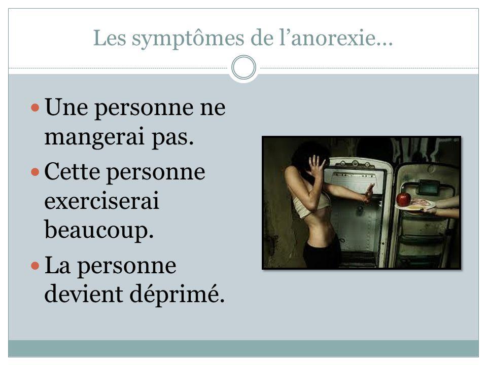 Les symptômes de l'anorexie…