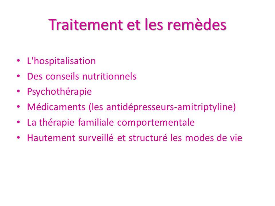 Traitement et les remèdes