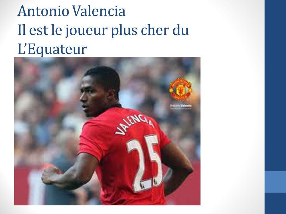 Antonio Valencia Il est le joueur plus cher du L'Equateur