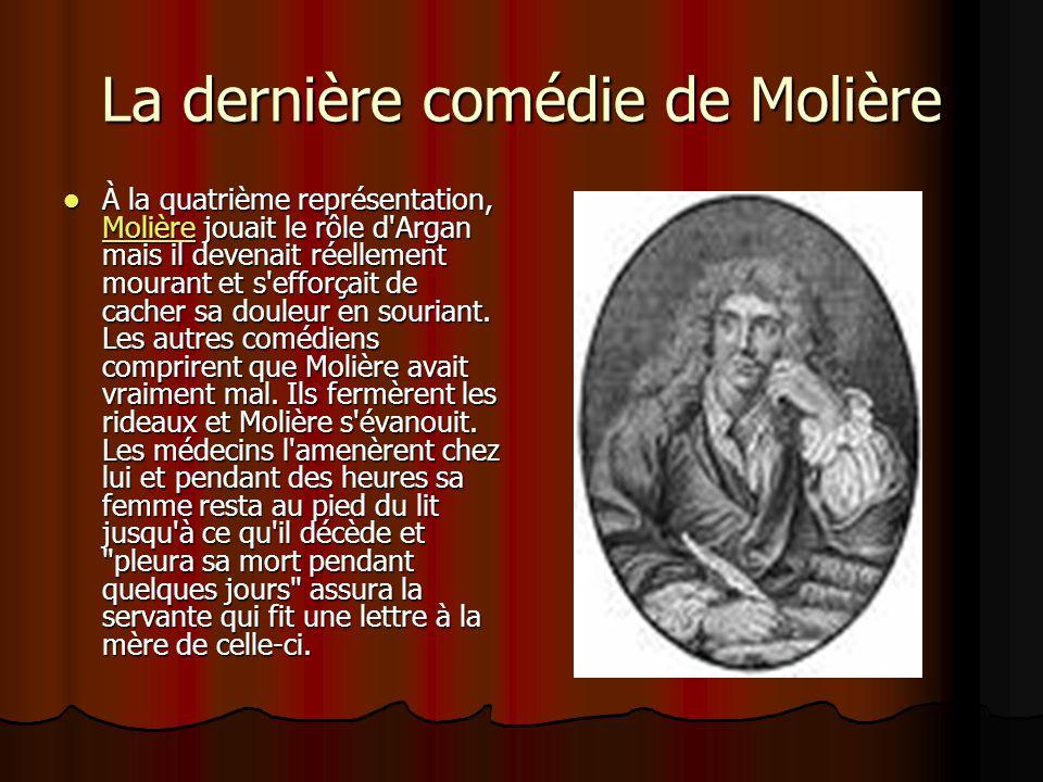 La dernière comédie de Molière
