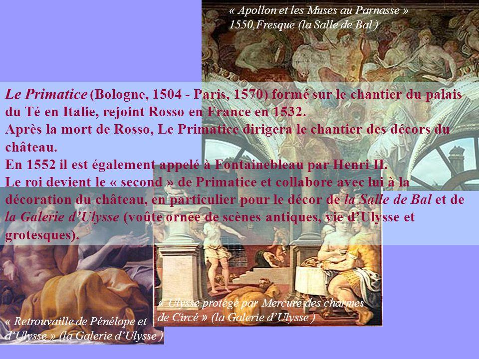 « Apollon et les Muses au Parnasse » 1550,Fresque (la Salle de Bal )