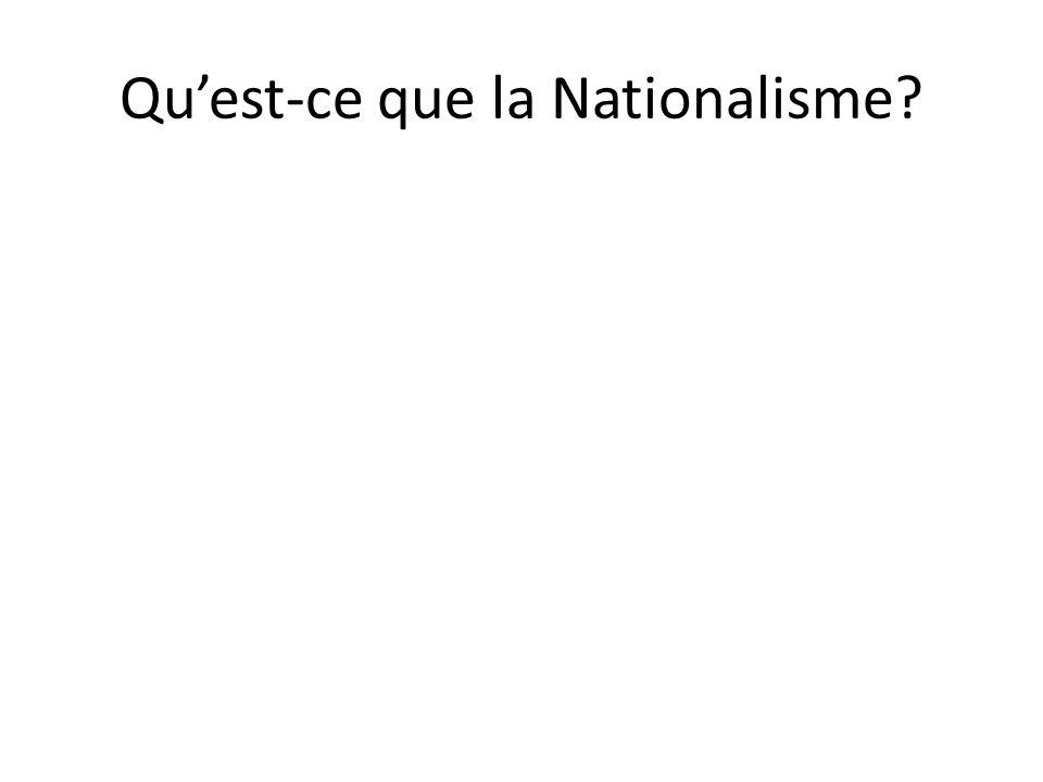 Qu'est-ce que la Nationalisme