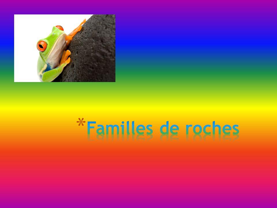 Familles de roches