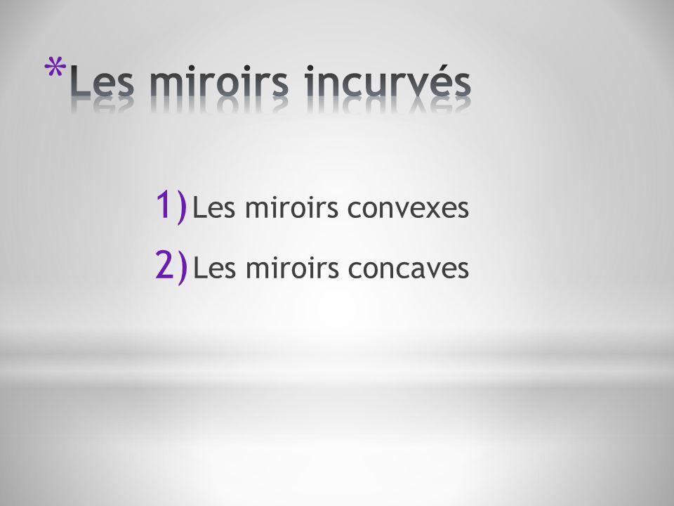 Les miroirs incurvés Les miroirs convexes Les miroirs concaves