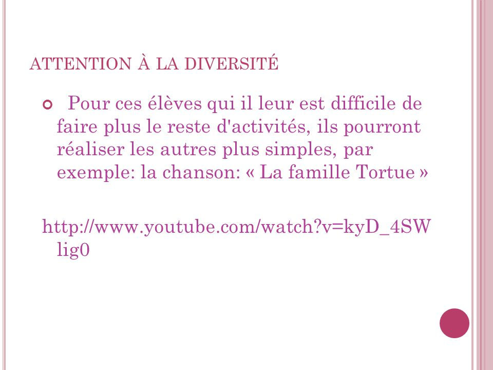 attention à la diversité