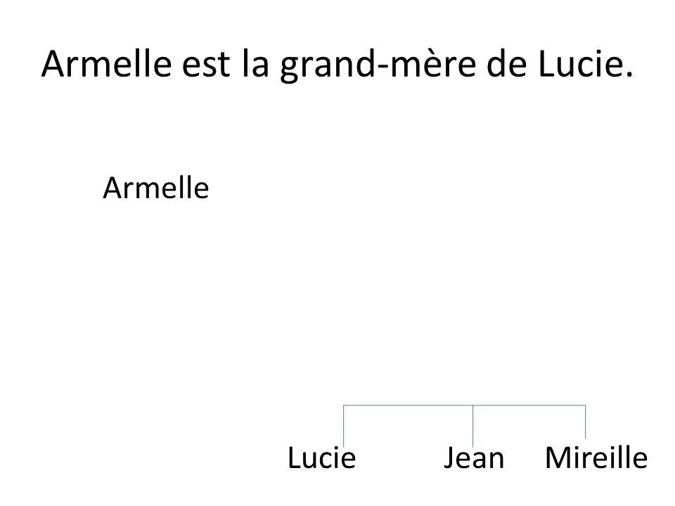 Armelle est la grand-mère de Lucie.