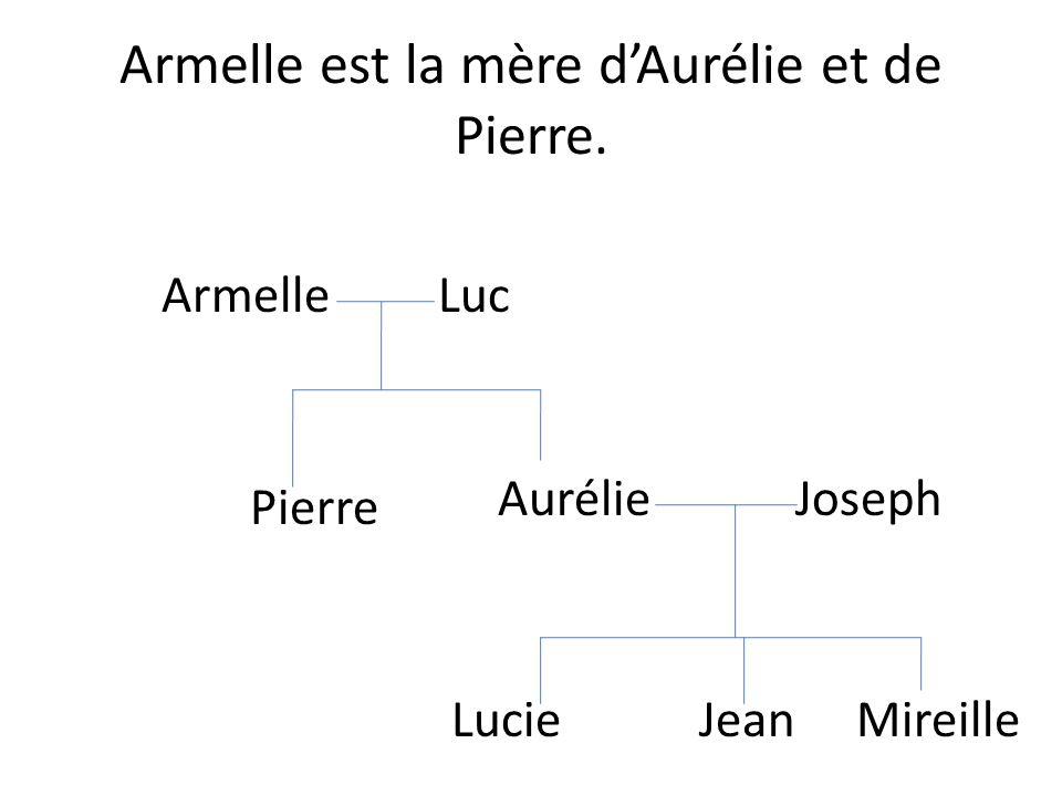 Armelle est la mère d'Aurélie et de Pierre.