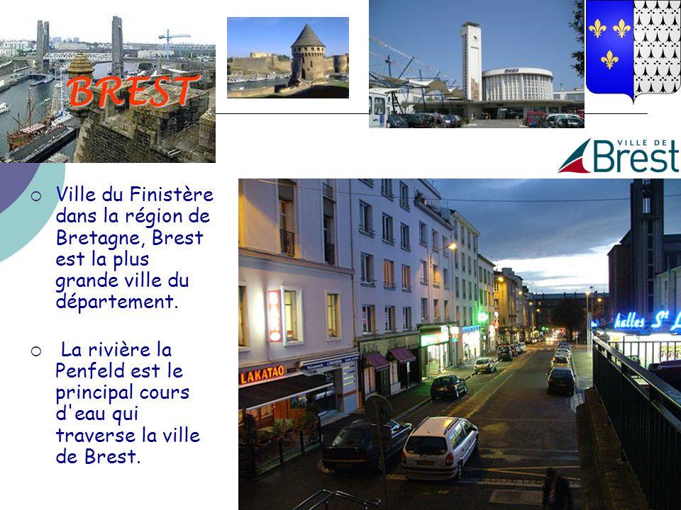 BREST Ville du Finistère dans la région de Bretagne, Brest est la plus grande ville du département.