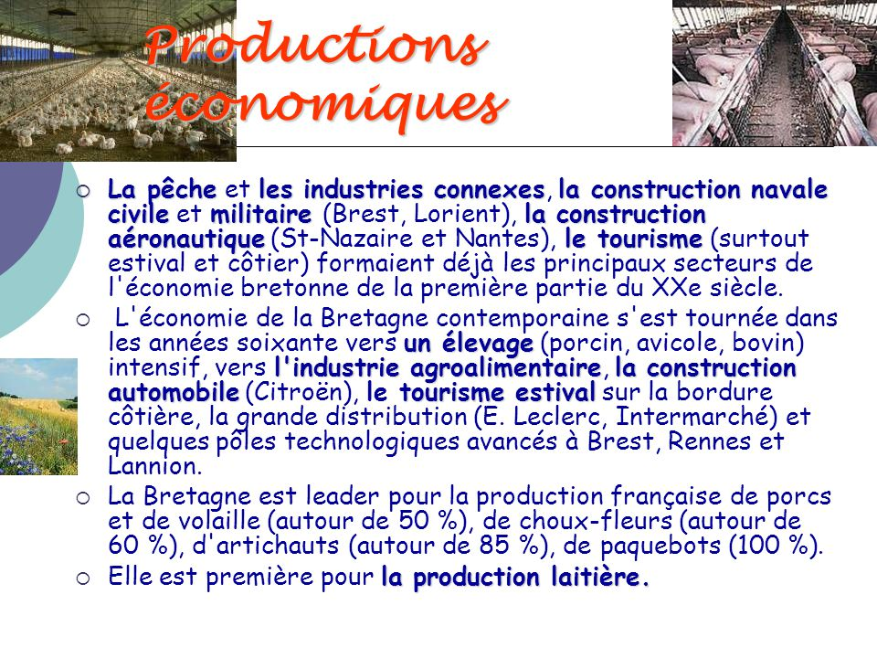 Productions économiques