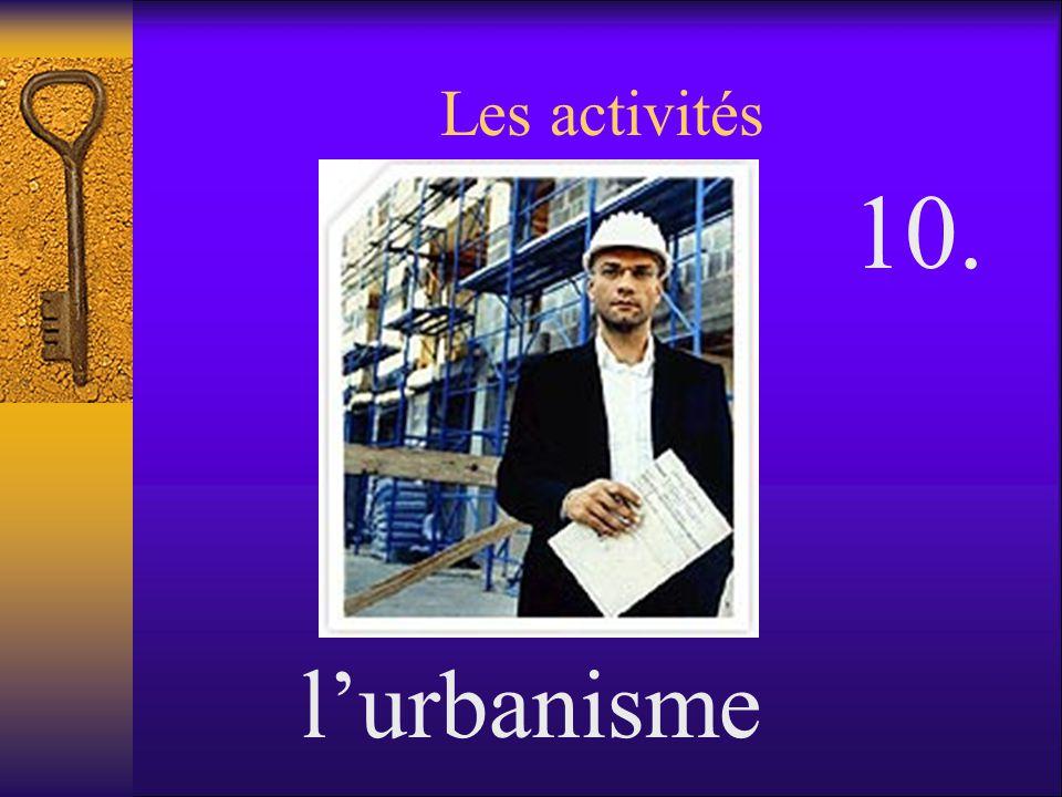 Les activités 10. l'urbanisme
