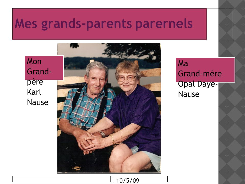 Mes grands-parents parernels