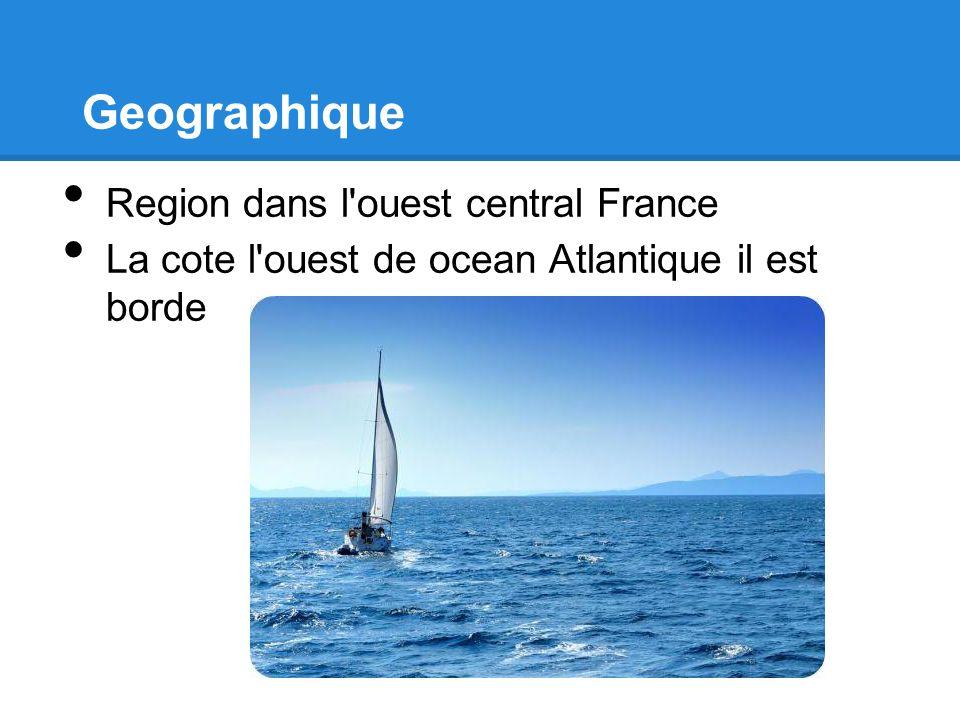 Geographique Region dans l ouest central France